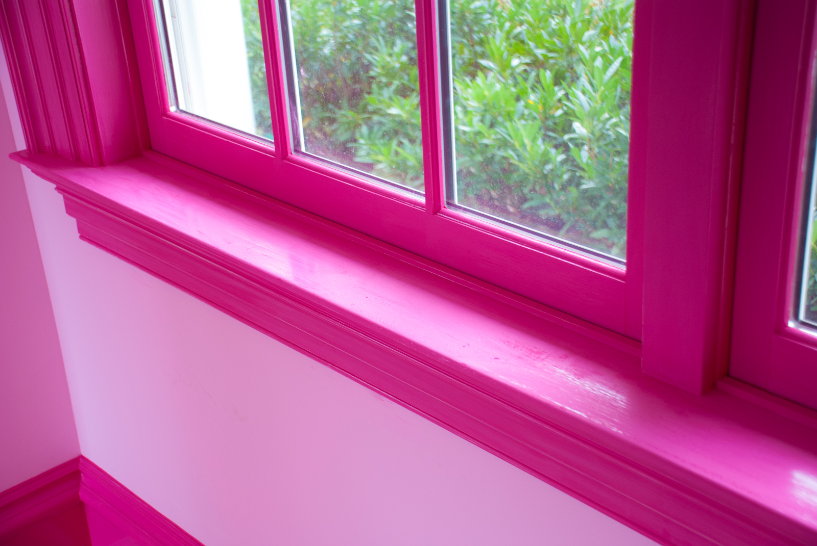 DSC_2472.jpg - In the room that will become my study, the glossy pink paint has been sanded.