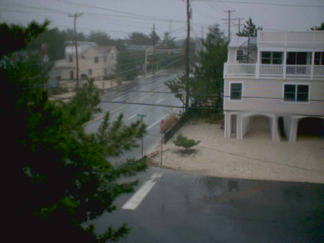 camfile20121029_1305.jpg - This was the last image uploaded by my netcam at the Harvey Cedars house, 1:05 PM 10/29, before the Long Beach Island power went out.  Water was coming from the Barnegat Bay side of the island (to the left in this photo).  I had no idea how much worse it might have become.  It made me crazy.